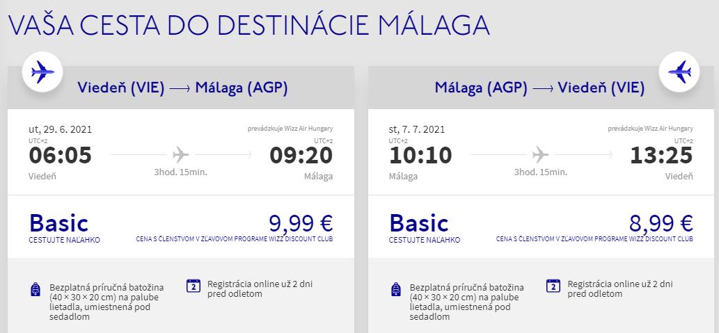 Andalúzia začiatkom prázdnin. Malaga z Viedne s letenkami od 19 eur