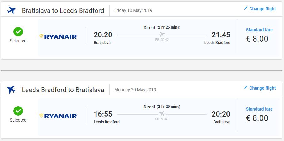 Anglický Leeds z Bratislavy s letenkami už od 16 eur