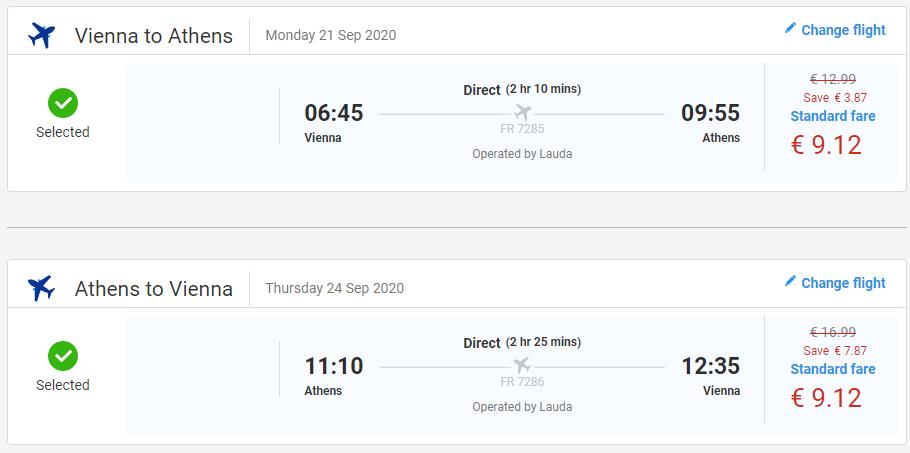 Atény koncom leta. Spiatočné letenky z Viedne už od 18 eur