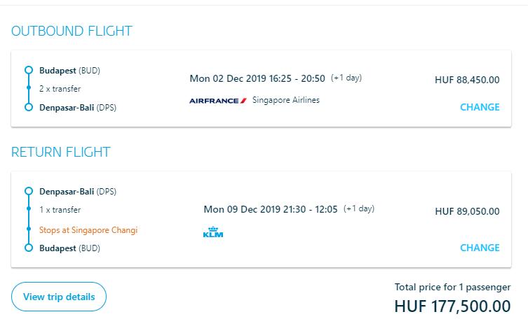 BALI - Spiatočné letenky z Budapešti s KLM od 549 eur
