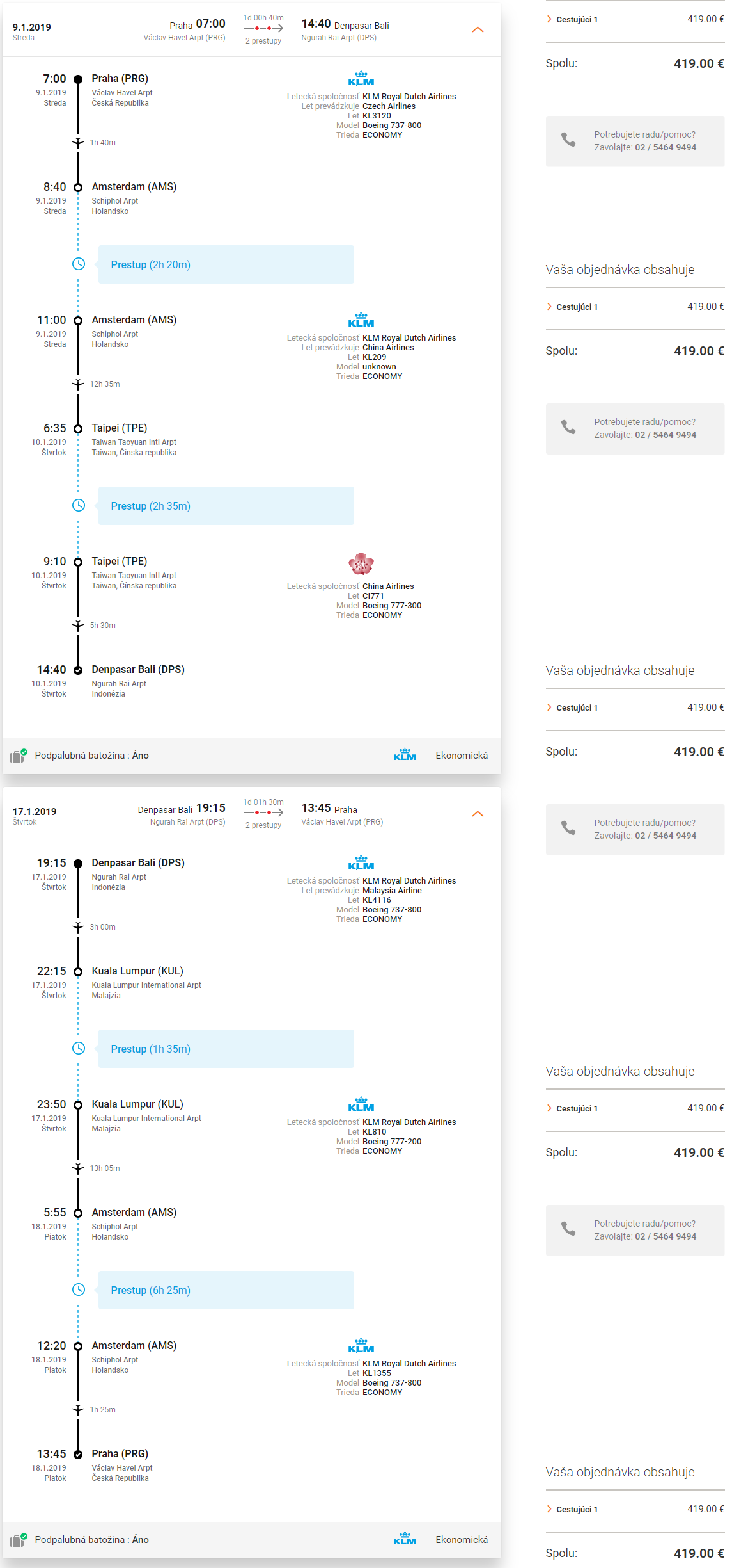 BALI - Spiatočné letenky z Prahy s KLM od 419 eur
