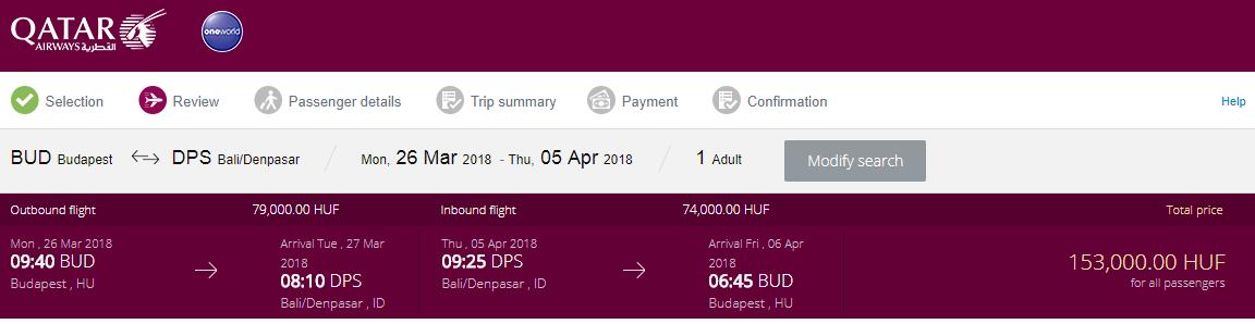BALI S QATAR AIRWAYS - Spiatočné letenky z Budapešti od 495 eur