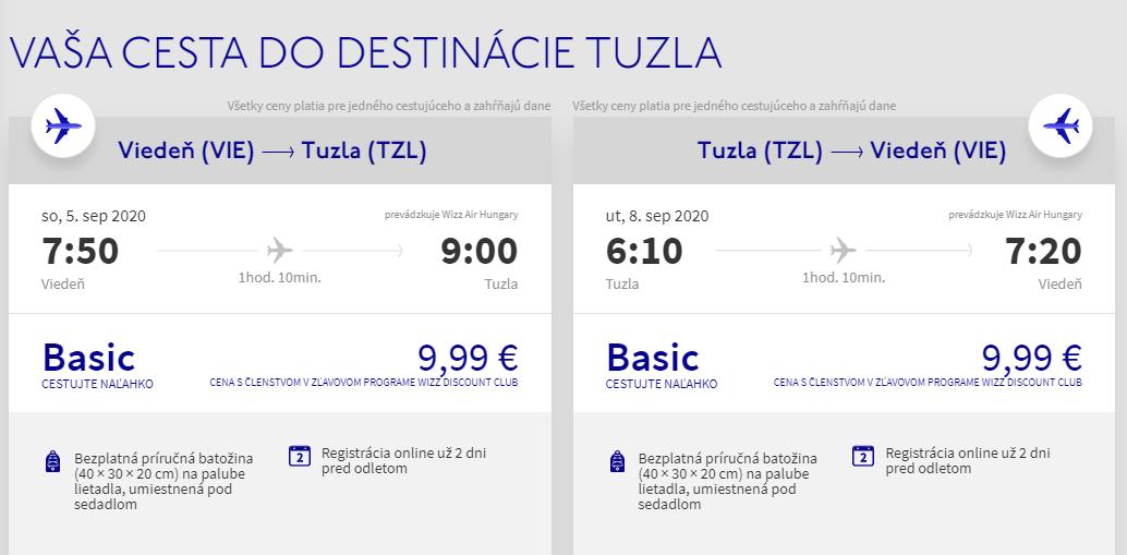 BOSNA A HERCEGOVINA - Tuzla z Viedne koncom leta od 20 eur