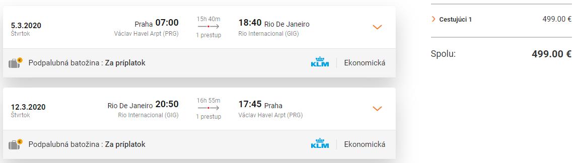 BRAZÍLIA - Spiatočné letenky do Rio de Janieiro od 499 eur
