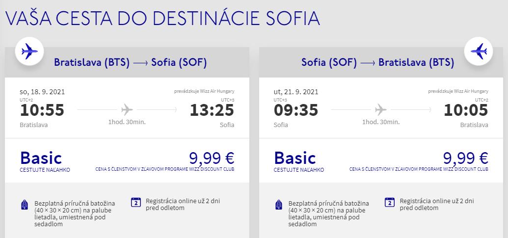 BULHARSKO - Sofia z Bratislavy koncom leta s letenkami od 20 eur