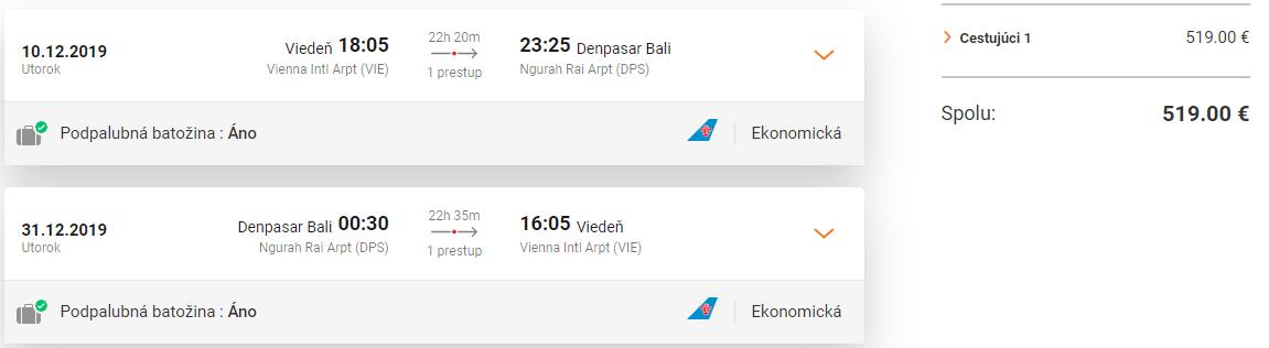 Bali z Viedne s letenkami od 519 eur