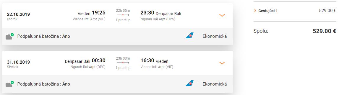 Bali z Viedne s letenkami od 529 eur