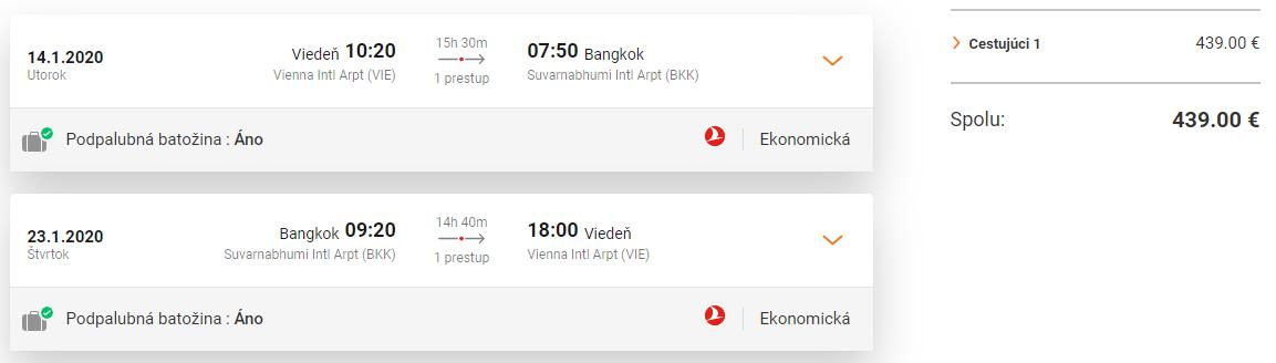 Bangkok z Viedne s Turkish Airlines s letenkami od 439 eur