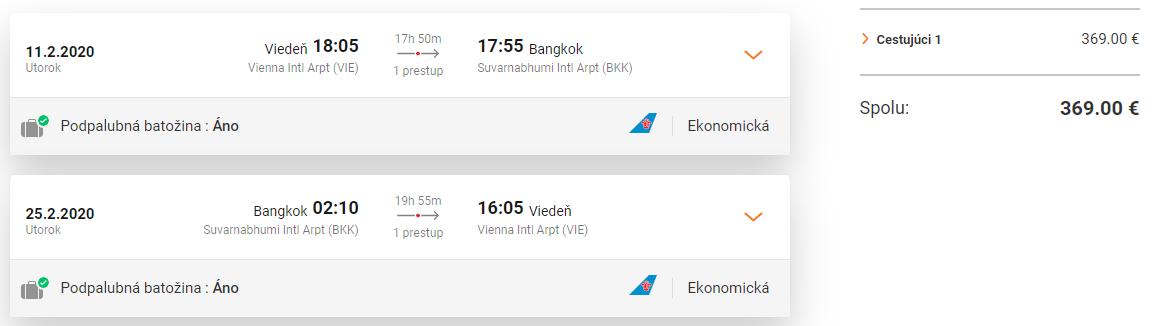 Bangkok z Viedne s letenkami od 369 eur