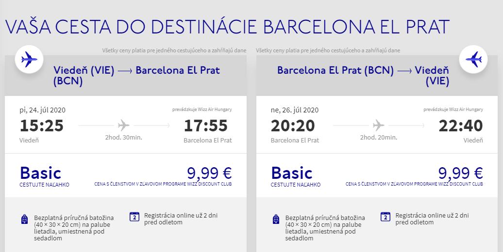 Barcelona cez letné prázdniny. Víkendové letenky z Viedne od 20 eur