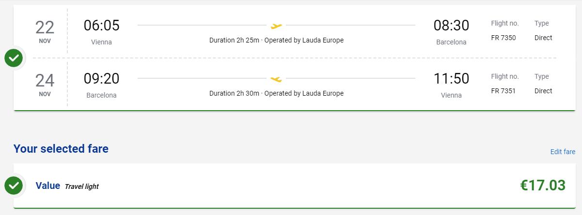 Barcelona z Viedne s letenkami od 17 eur