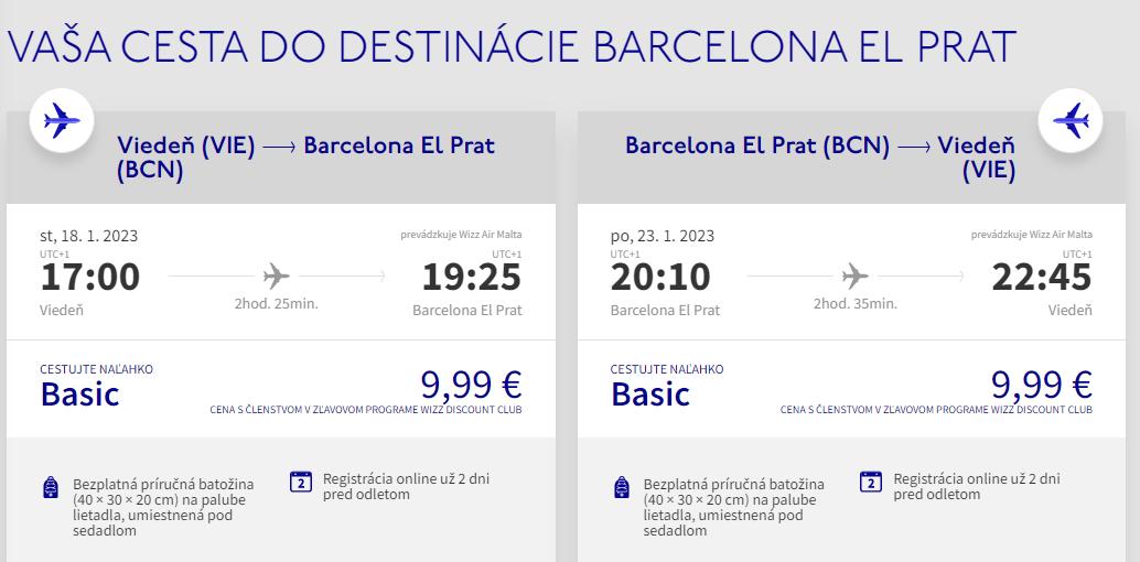 Barcelona z Viedne s letenkami od 20 eur