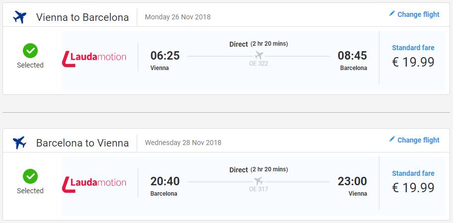 Barcelona z Viedne s letenkami od Laudamotion už od 40 eur