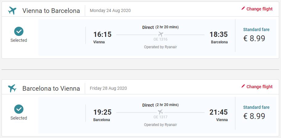Barcelona z Viedne v augustových termínoch od 18 eur