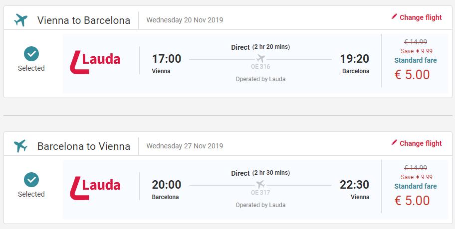 Barcelona z Viedne v jesenných termínoch s letenkami od 10 eur