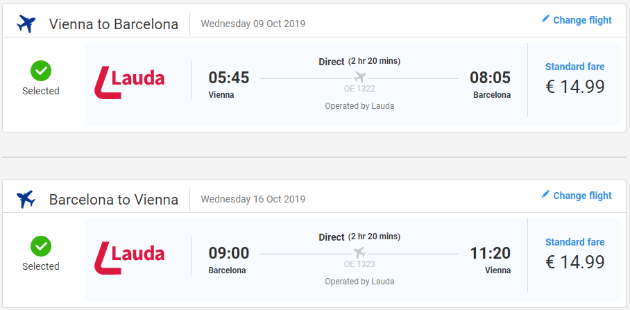 Barcelona z Viedne v jesenných termínoch s letenkami od 30 eur