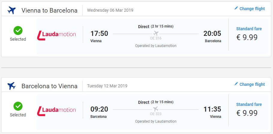Barcelona z Viedne v marcových termínoch s letenkami od 20 eur
