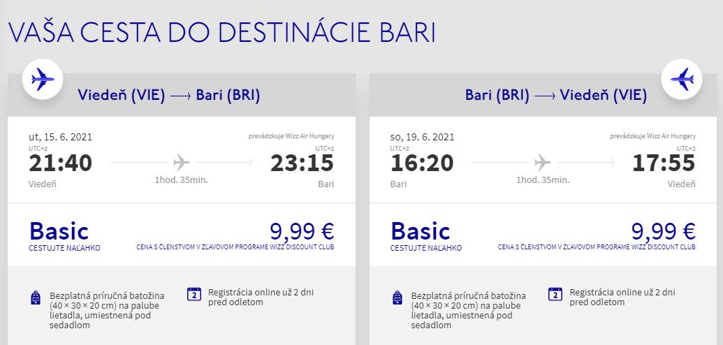 Bari z Viedne začiatkom leta s letenkami od 20 eur