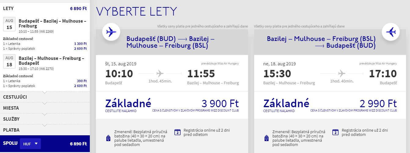 Bazilej z Budapešti s letenkami od 22 eur