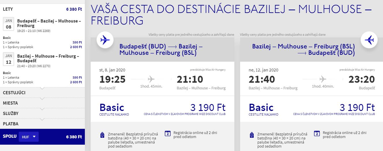 Bazilej z Budapešti s letenkami od 19 eur