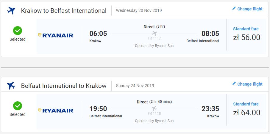 Belfast z Krakova s letenkami od 28 eur