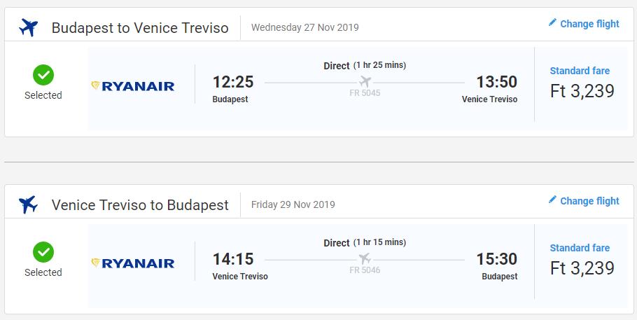 Benátky z Budapešti v jesenných termínoch s letenkami od 20 eur