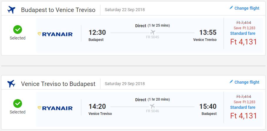 Benátky z Budapešti v septembrových termínoch s letenkami od 26 eur