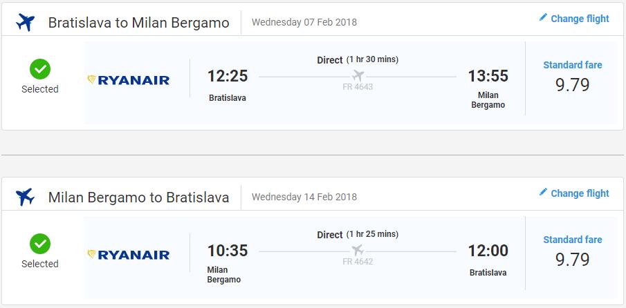 Bergamo z Bratislavy začiatkom roka s letenkami od 20 eur