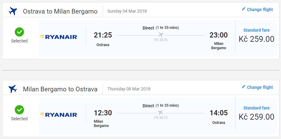 Bergamo z Ostravy s letenkami od 20 eur