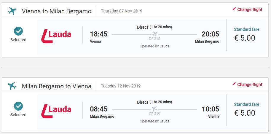 Bergamo z Viedne s letenkami od 10 eur