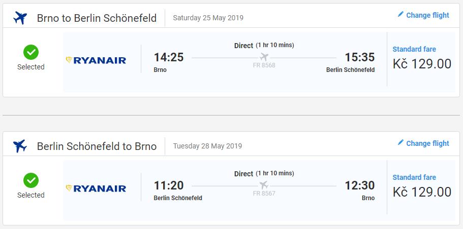 Berlín z Brna s letenkami v májových a júnových termínoch od 10 eur