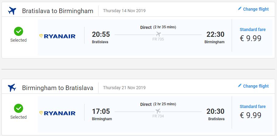 Birmingham z Bratislavy s letenkami od 20 eur