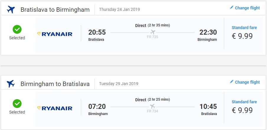 Birmingham z Bratislavy s letenkami už od 20 eur