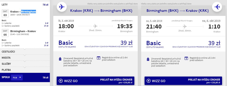 Birmingham z Krakova s letenkami už od 18 eur