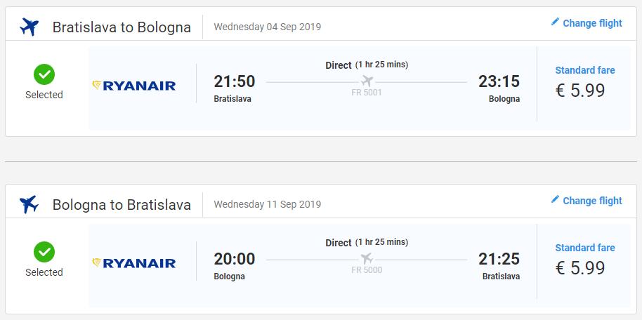 Bologna koncom leta s letenkami z Bratislavy od 12 eur