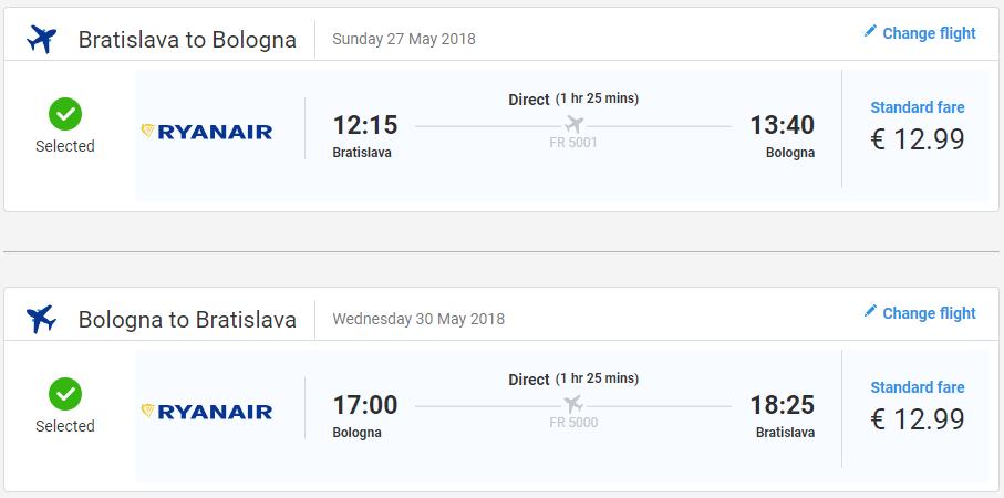 Bologna z Bratislavy v májových a júnových termínoch od 26 eur