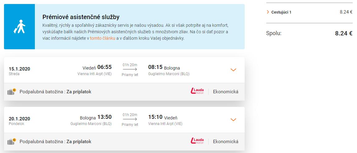 Bologna z Viedne s letenkami už od 8 eur