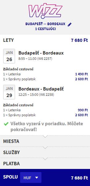 Bordeaux z Budapešti s letenkami od 24 eur