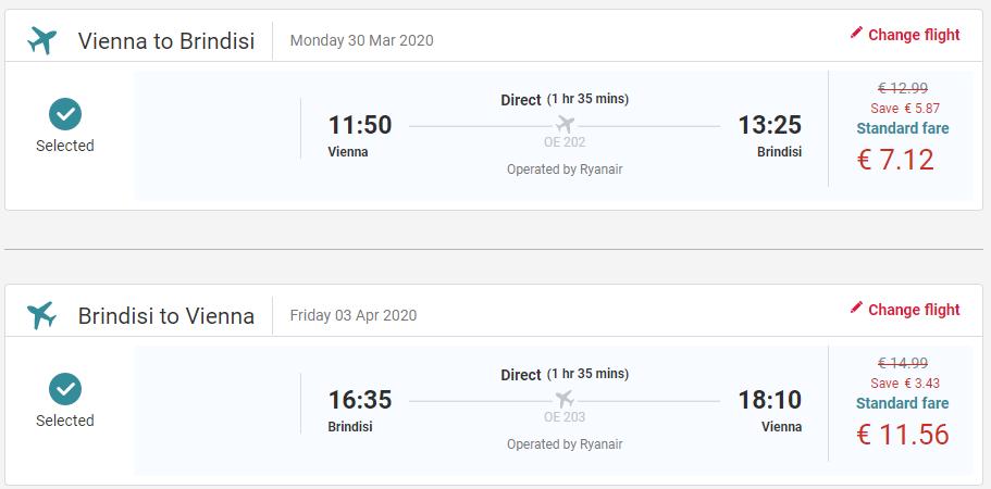 Brindisi z Viedne začiatkom jari s letenkami od 19 eur