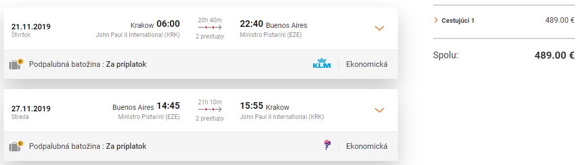 Buenos Aires z Krakova s letenkami od 489 eur