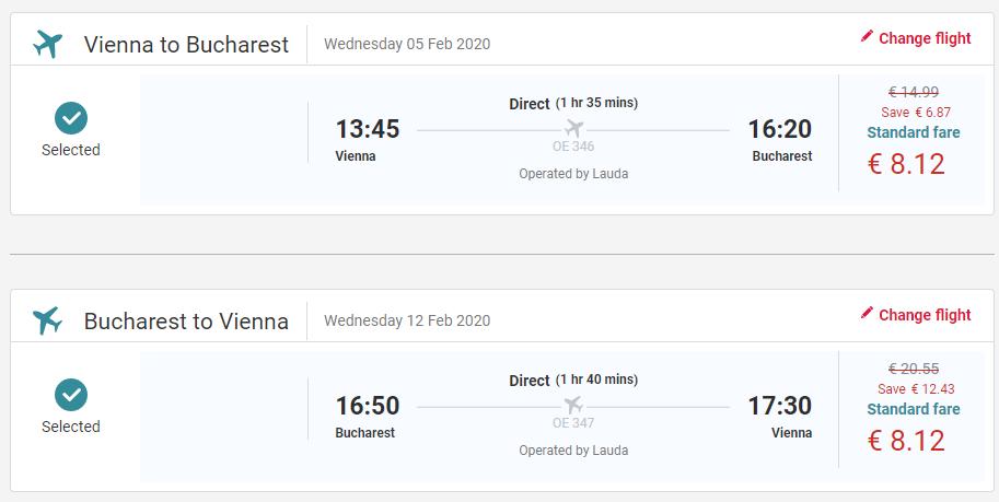 Bukurešť z Viedne s letenkami od 16 eur