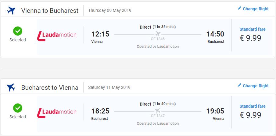 Bukurešť z Viedne v májových termínoch s letenkami od 20 eur