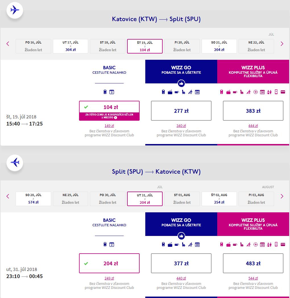 CHORVÁTSKO CEZ PRÁZDNINY - Spiatočné letenky do Splitu už od 74 eur