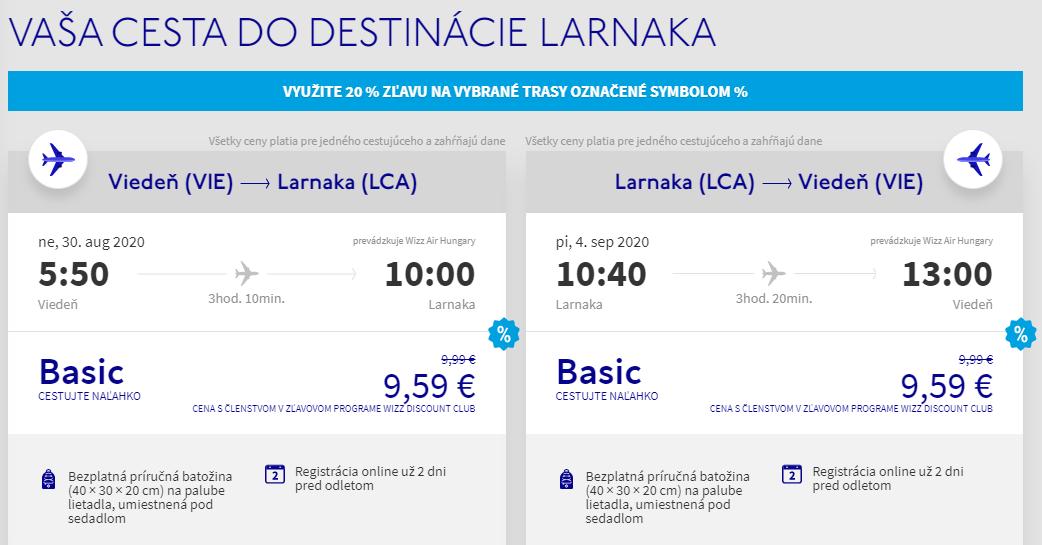 CYPRUS - Larnaca z Viedne koncom prázdnin s letenkami od 19 eur