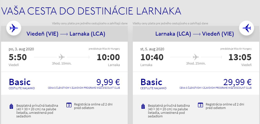 CYPRUS - Larnaca z Viedne v augustových termínoch s letenkami od 40 eur