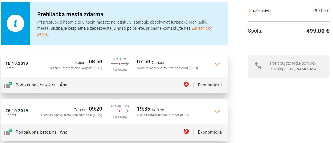 Cancun z Košíc s letenkami od Turkish Airlines už od 499 eur