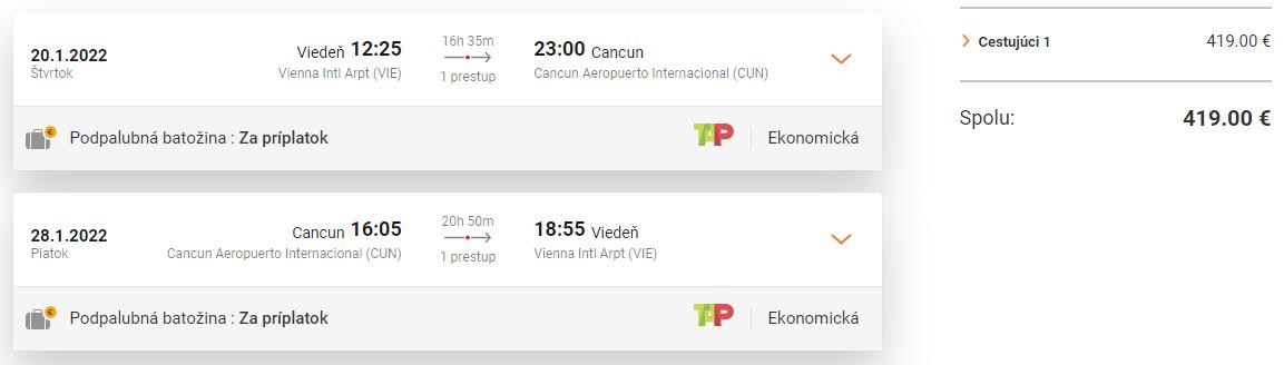 Cancun z Viedne s letenkami od 419 eur