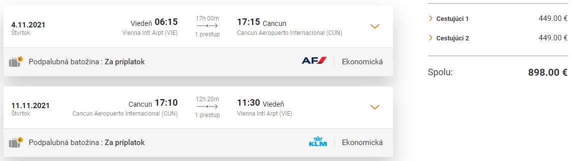 Cancun z Viedne s letenkami od 449 eur