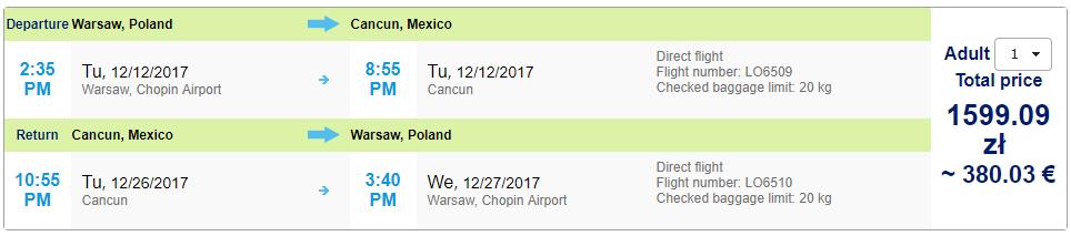 Charterové letenky z Varšavy do Cancunu od 380 eur