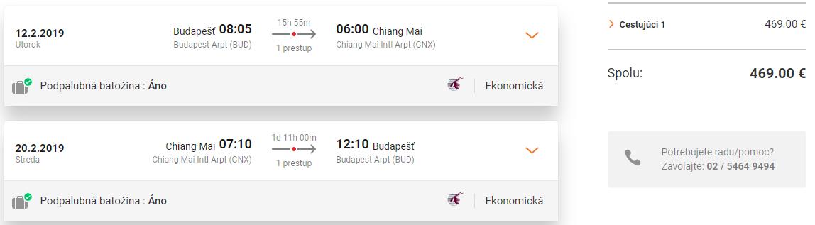 Chiang Mai z Budapešti s Qatar Airways už od 469 eur